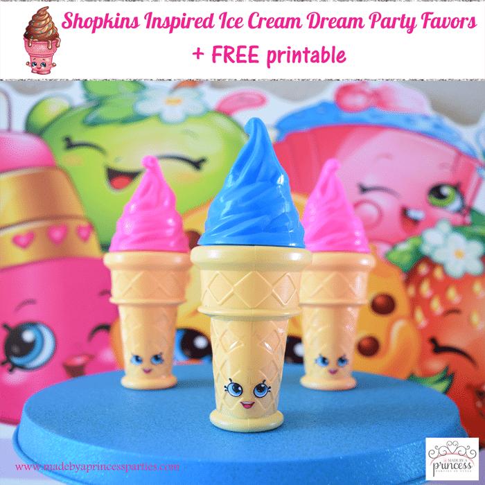 shopkins inspired ice cream dream party favor