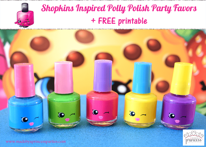 Shopkins Inspired Polly Polish Party Favor