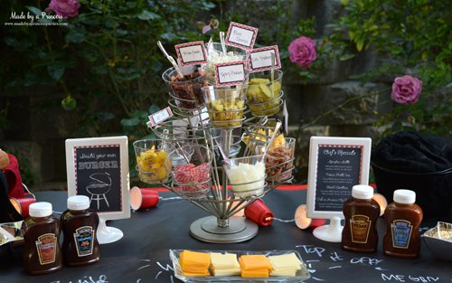 wayfair Housewarming party outdoor party spaces heinz build your own burger bar table