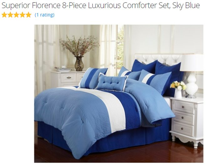back to school beddding with groupon sky blue comforter set