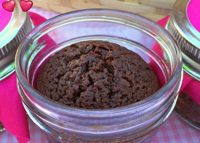 Mason Jar Cherry Brownies