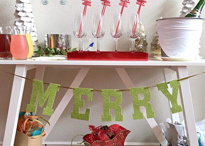 Budget Friendly Holiday Mimosa Bar Party