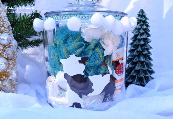spa-in-a-jar-gift-idea-cow-die-cut-and-shower-poof