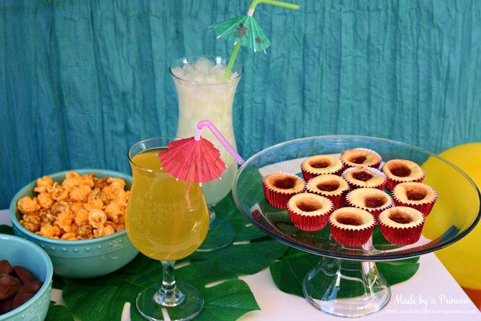 disney-moana-movie-inspired-party-guava-cheesecake-bites-champagne-sparkler
