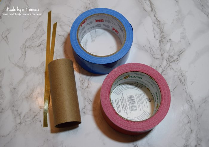 Party-Costume-Idea-How-to-Make-Superhero-Cuffs-supplies-toilet-paper-roll-duct-tape