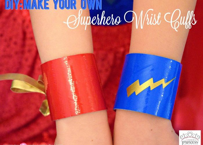 Party Costume Idea How to Make Superhero Cuffs