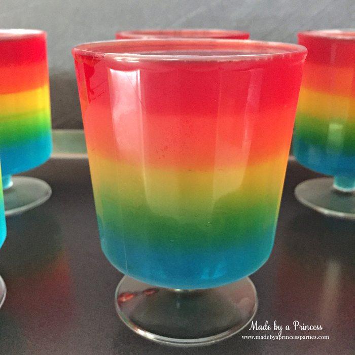 Unicorn Party Rainbow Jello Recipe cherry red fifth layer