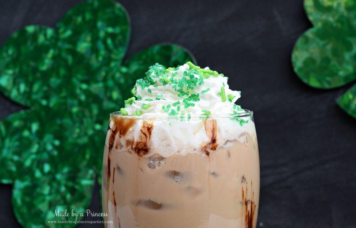 Mcdonalds Copycat Shamrock Mocha Recipe topped with whipped cream and sprinkles