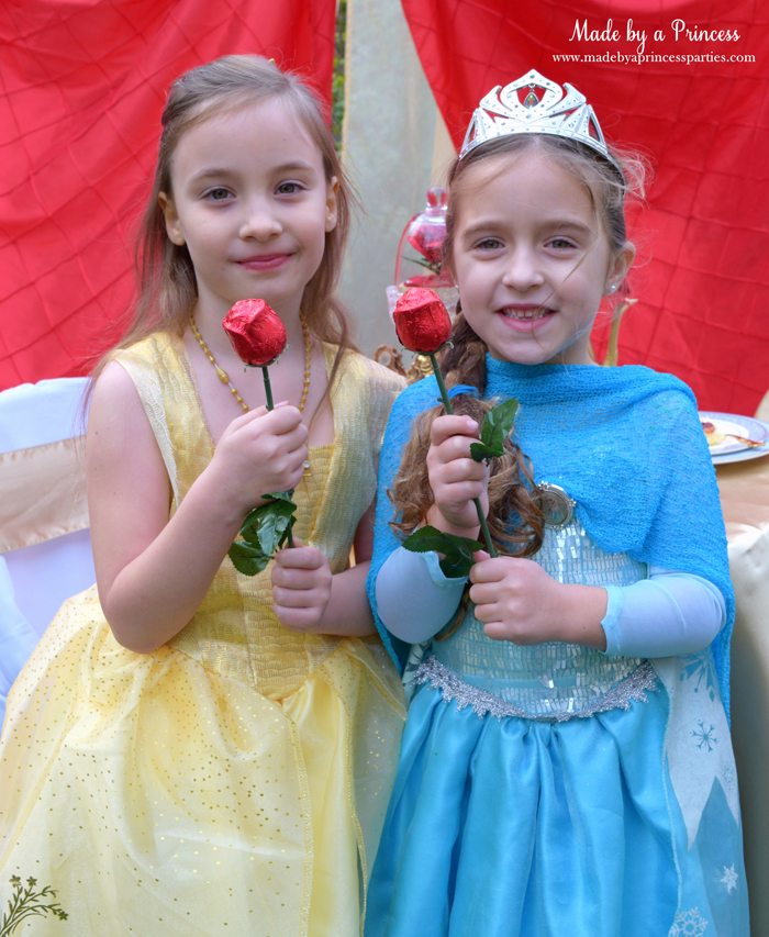 Beauty-and-the-Beast-Movie-Tea-Party-for-Two-belle-and-elsa-with-chocolate-red-roses