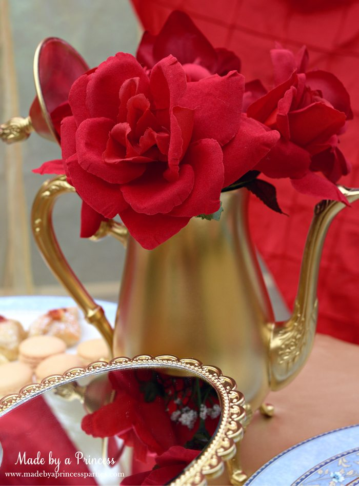 Beauty-and-the-Beast-Movie-Tea-Party-for-Two-golden-tea-pot-vase
