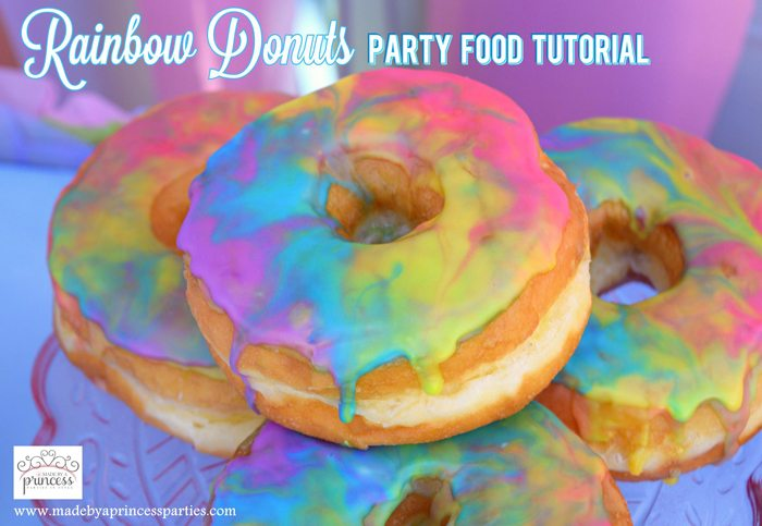 Marbled Rainbow Donuts Party Food Tutorial