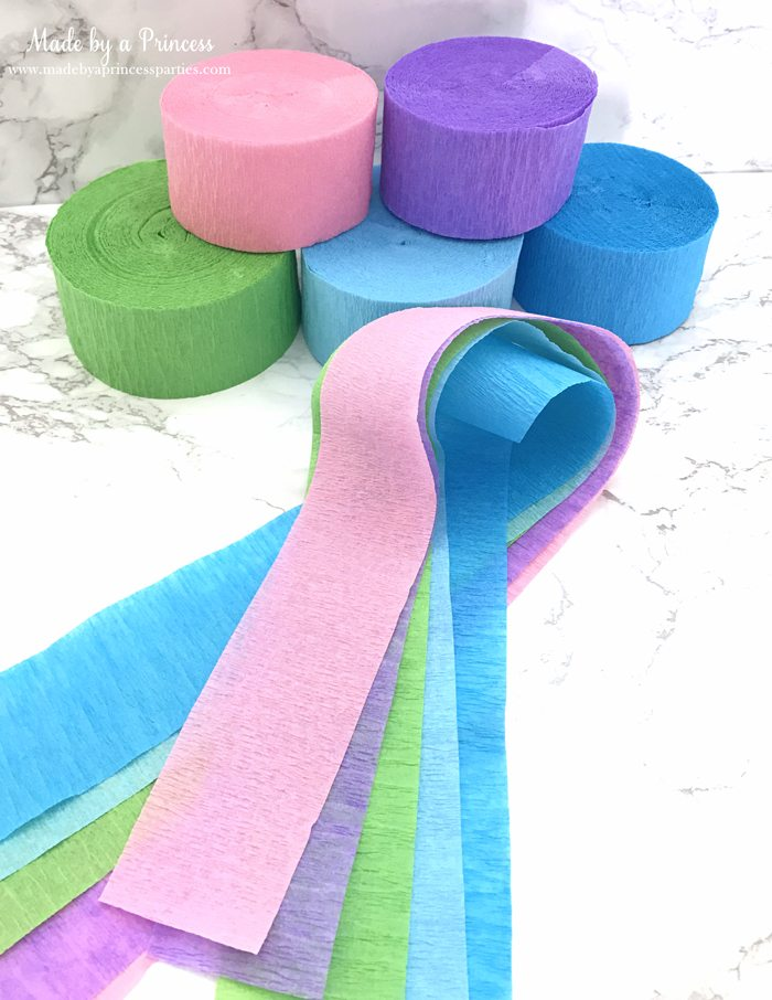 unicorn princess party hat idea tutorial crepe paper rolls