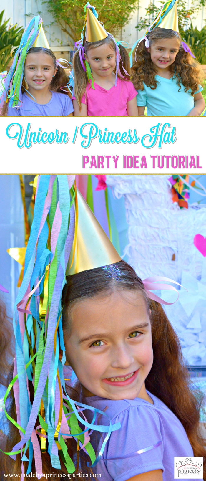 unicorn princess party hat idea tutorial pin it