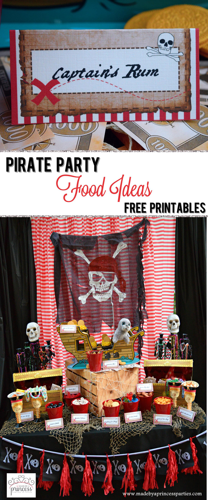 pirate party food free printables pin it