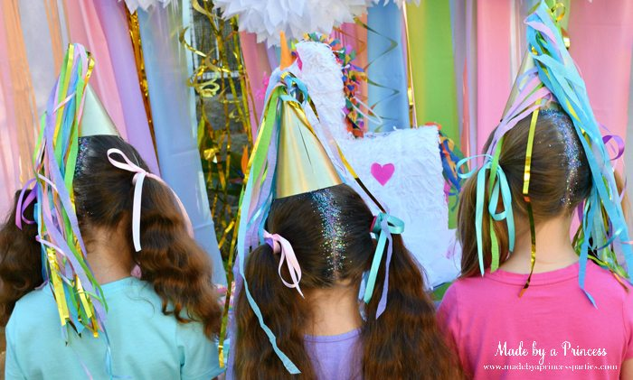 Create Sparkly Glitter Roots Hair Tutorial great activity for a unicorn party