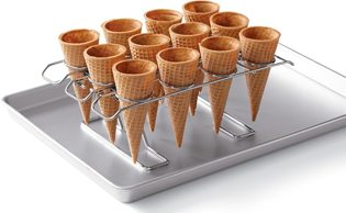 First Birthday Ice Cream Party Ideas cone rack
