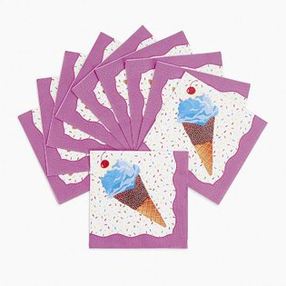 First Birthday Ice Cream Party Ideas napkins