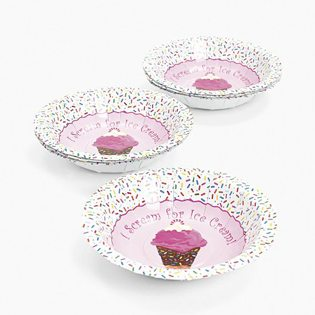 First Birthday Ice Cream Party Ideas pink scream for bowls