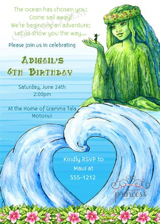 Moana Party Ideas invitation front