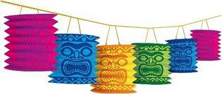 Moana Party Ideas tiki lantern garland