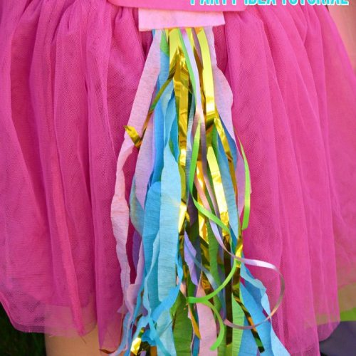 unicorn tail party idea tutorial