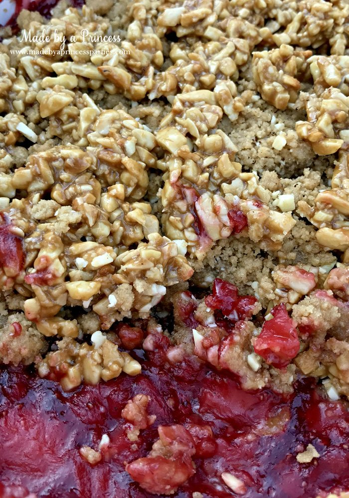 strawberry almond cobbler hot from the oven | Made by a Princess