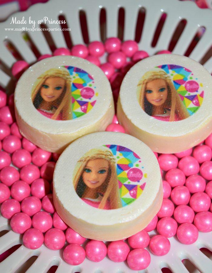 Fashionista Barbie Party Ideas Barbie Cookie Transfer on OREO - Made by a Princess #barbie #barbieparty
