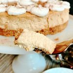 Gingerbread Cheesecake Dessert Recipe with three types of ginger this cheesecake is rich and decadent and oh so delicious #gingerbreadcheesecake @madebyaprincess