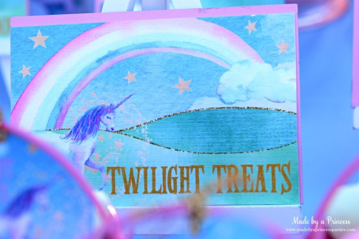 Unicorn Party Ideas Twilight Treats - Made by a Princess #unicorn #unicornparty