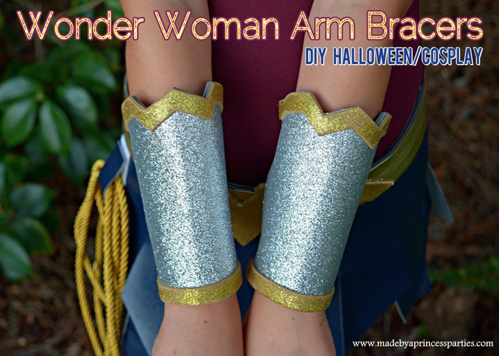 Wonder Woman Movie Arm Bracers Costume DIY perfect for cosplay or halloween MadebyaPrincess