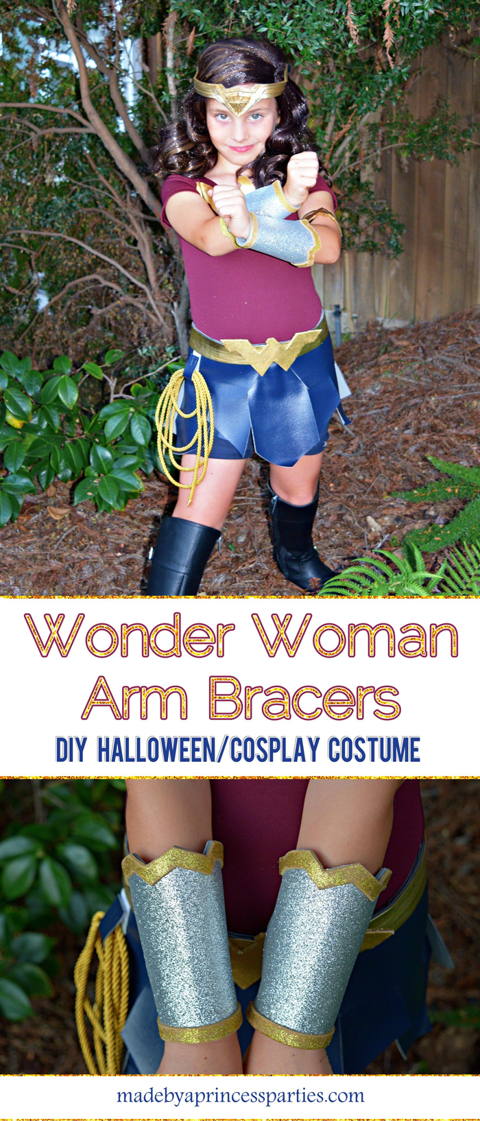 Wonder Woman Movie Arm Bracers Costume DIY perfect for cosplay or halloween pin for later MadebyaPrincess