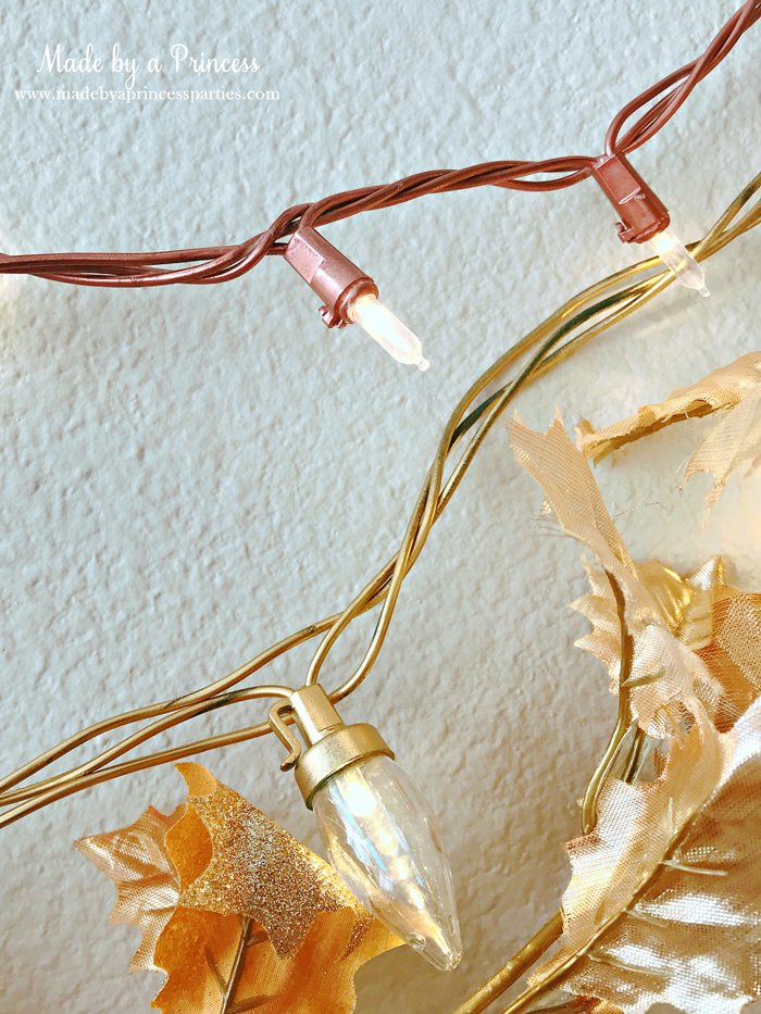 DIY Rose Gold String Holiday Lights Tutorial Hang with Gold String Lights