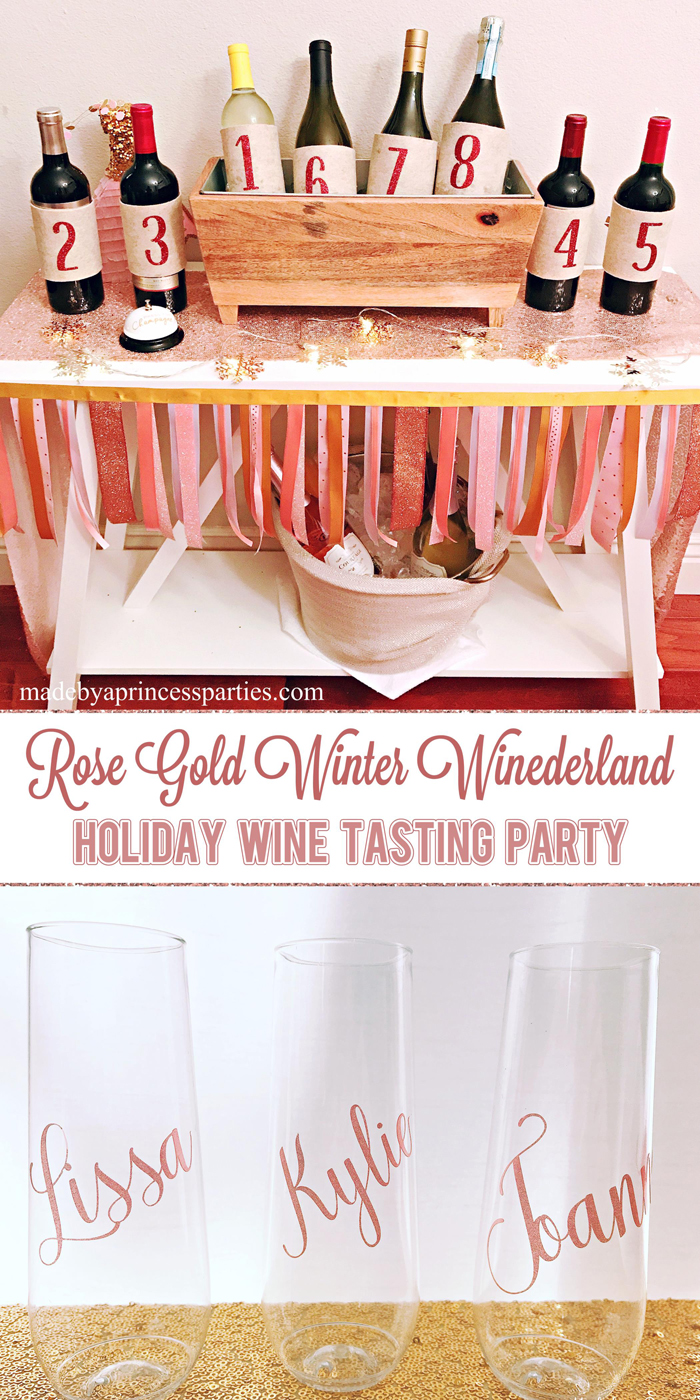 Winter WINEderland Holiday Party Create Your Own Bottle Numbers