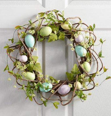 Peter Rabbit Tea Party Inspiration Egg Nest Door Wreath