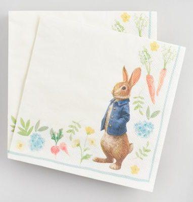 Peter Rabbit Tea Party Inspiration Floral Lunch Napkins