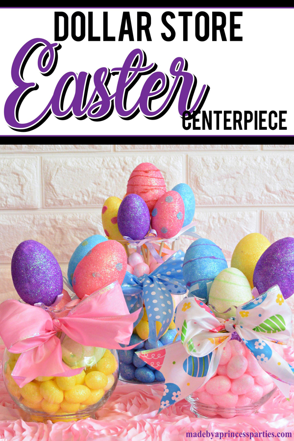 Creative Dollar Store Easter Centerpiece Tutorial 15 minute craft #easter #eastercenterpiece #easterdecoration