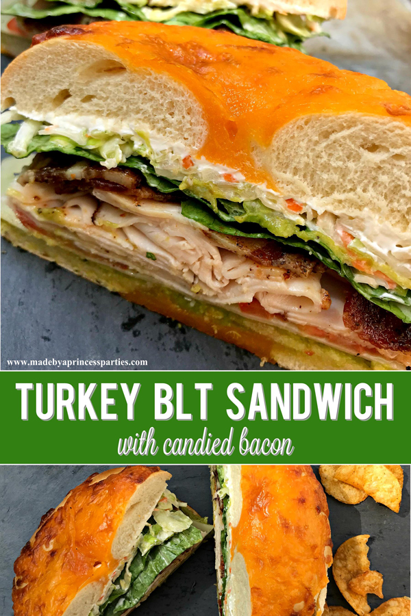 Best Turkey BLT Sandwich Recipe with candied bacon will be your new favorite via @madebyaprincess #turkeysandwich #blt #bltsandwich #bestsandwich #recipe #turkeyblt #madebyaprincess