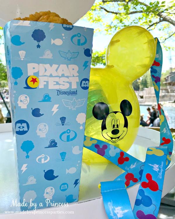 Disneylands Best Pixar Fest Food Checklist Mickey Mouse Balloon Popcorn Bucket #disneylandfood #disneyfood #mickeymouse #pixarfest #madebyaprincess