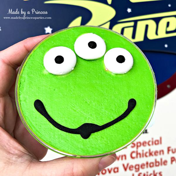 Disneylands Best Pixar Fest Food Checklist Toy Story Alien Parfait #disneylandfood #disneyfood #toystory #pixarfest #madebyaprincess