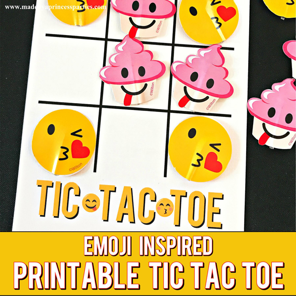 Emoji Tic Tac Toe Printable Board Game great activity for a party