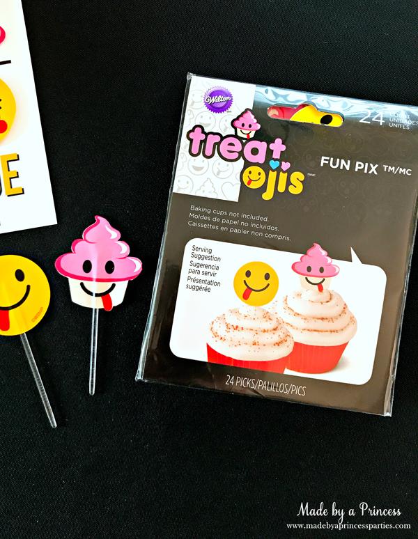 Emoji Tic Tac Toe Printable Board Game using cupcake picks