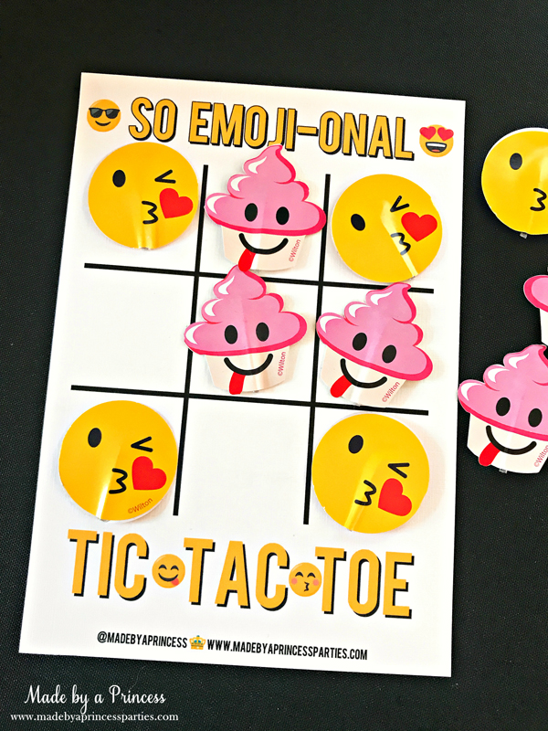 Emoji Tic Tac Toe Printable Board Game