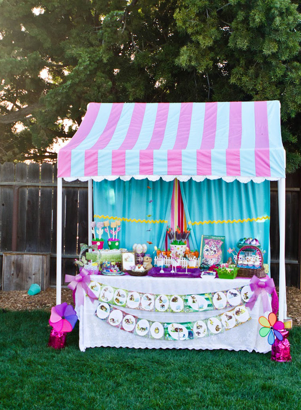 How to Make a PVC Canopy dressed up for an Easter celebration