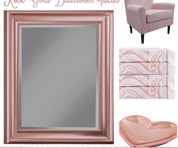 Rose Gold Bathroom Ideas from Wayfair