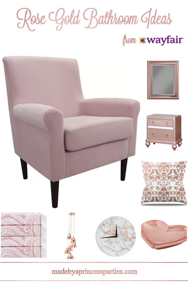 Rose Gold Bathroom Ideas from Wayfair are perfectly pretty in pink