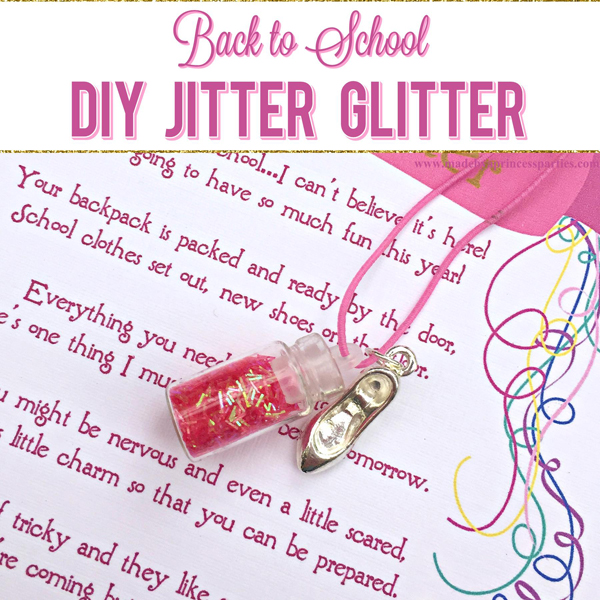 Back to School Mommy Magic Jitter Glitter DIY your own jitter glitter charm bracelet