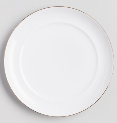 Golden Holiday Entertaining Essentials gold rimmed plate