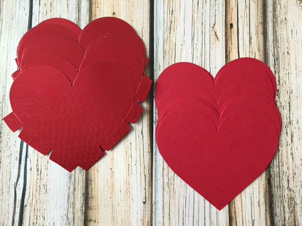DIY Valentine's Day Countdown Banner with Sizzix heart fronts and backs