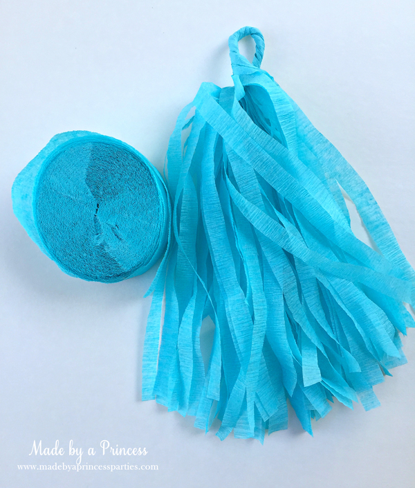 How to Make Tassel Garland with Crepe Paper start with any color crepe paper