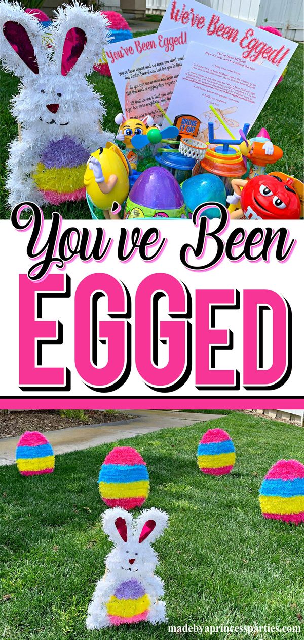You've Been Egged Poem Printable Easter Activity perfect EGG your neighbors with decor from the dollar store